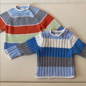 The childrens place knit striped sweaters